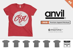 Anvil 990B Youth T-Shirt Mockups
