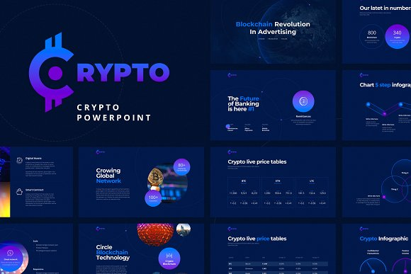 crypto powerpoint template presentation templates creative market