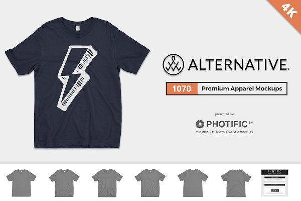 Alternative 1070 T-Shirt Mockups