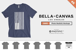 Bella Canvas 3005 V-Neck Mockups