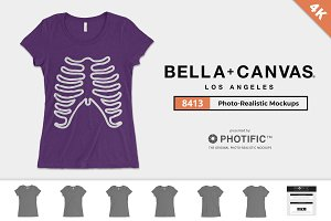 Bella Canvas 8413 Triblend Mockups
