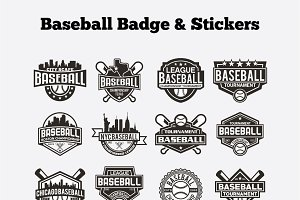 Baseball Badge & Stickers Vol3