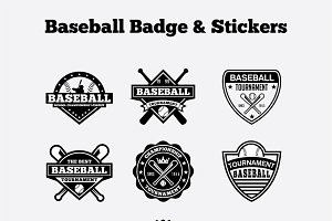 Baseball Badge & Stickers Vol2
