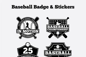 Baseball Badge & Stickers Vol1