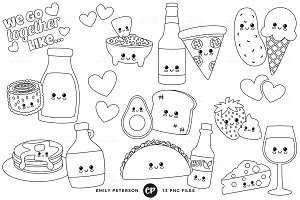 Food Pairs Digital Stamps