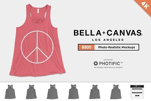 Bella Canvas 8800 Tank Mockups