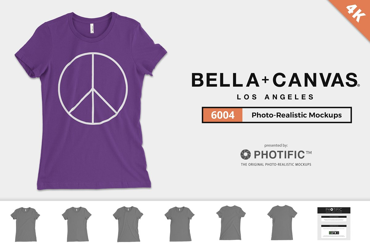8b347d85 Bella Canvas 6004 The Favorite Tee ~ Product Mockups ~ Creative Market