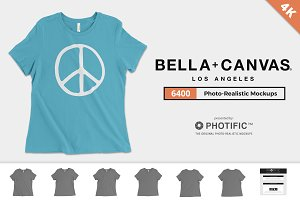 Bella Canvas 6400 T-Shirt Mockups
