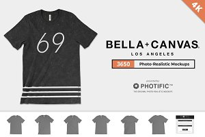 Bella Canvas 3650 Poly-Tee Mockups