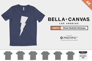 Bella Canvas 3415 V-Neck Mockups