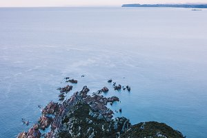 Beautiful aerial view of Rocky Cape.