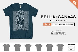 Bella Canvas 3413 Tri-Blend Mockups