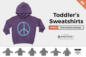 Toddler's Pullover Hoodie Mockups