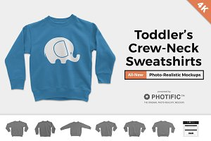 Toddler's Crew Neck Sweater Mockups