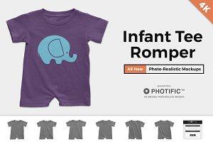 Infant Tee Romper Mockups