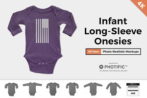 Infant Long Sleeve Onesie Mockups