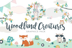 Woodland Creatures Graphic Set