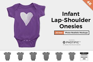 Onesie Mockups - Infant Lap Shoulder