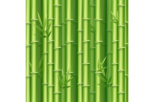 Realistic 3d Bamboo Background