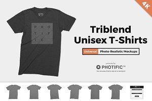 Tri-Blend T-Shirt Mockups