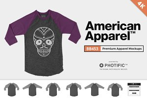 American Apparel BB453 Mockups