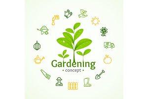 Gardening Round Design Template