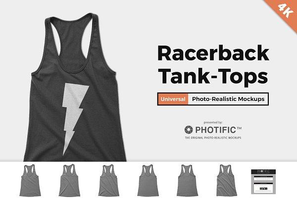 Women's Racerback Tank-Top Mockups