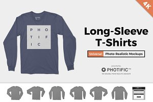 Long Sleeve T-Shirt Apparel Mockups