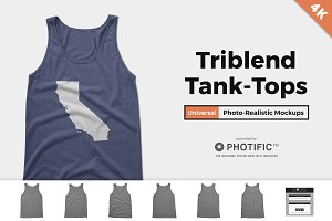 Tri-Blend Tank-Top Unisex Mockups