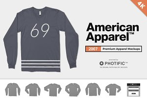 American Apparel 2007 Shirt Mockups