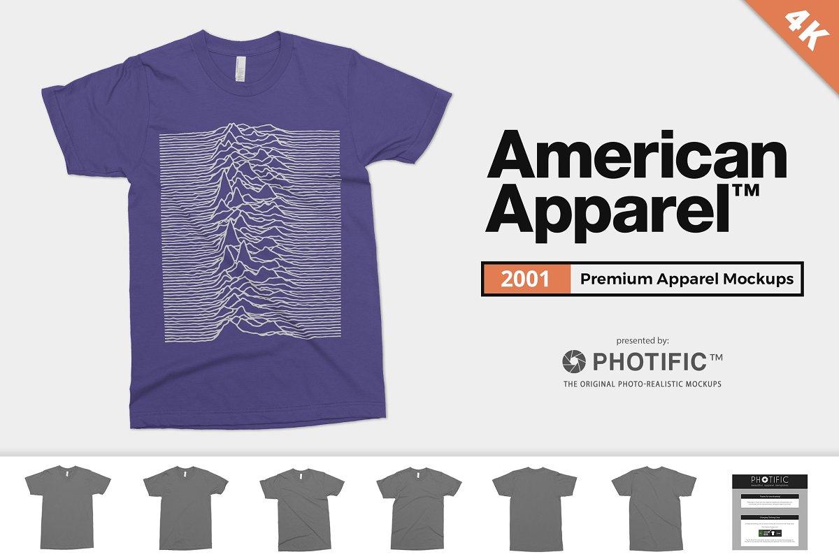 a3210799 American Apparel 2001 Shirt Mockups ~ Product Mockups ~ Creative Market