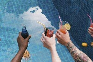 Friends enjoying summer time