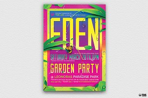 Garden Party Flyer Template