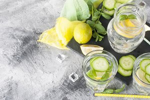 Healthy infused citrus sassi water w