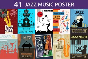 JAZZ MUSIC POSTER BUNDLE