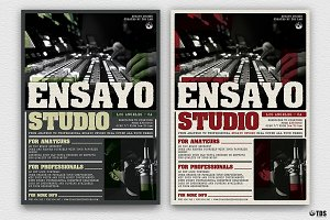 Music Studio Flyer Template