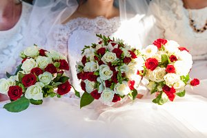 Wedding bouquets.