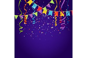 Celebration purple background