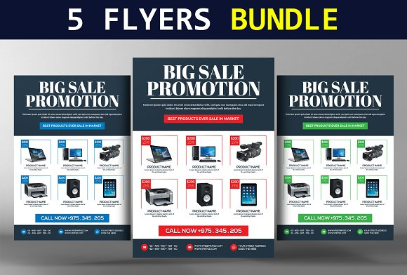 5 Business Flyers Bundle