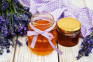 Honey and lavender  flowers