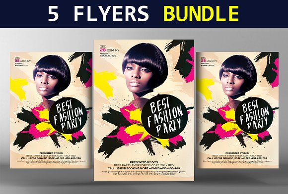 5 Party Flyers Bundle