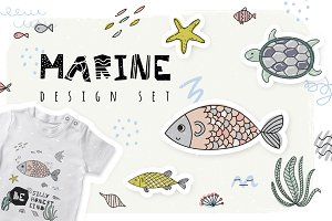 Marine. Design set.