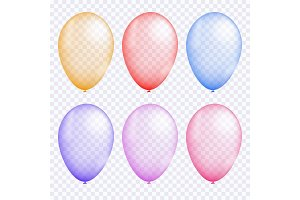 Colorful balloon vector set