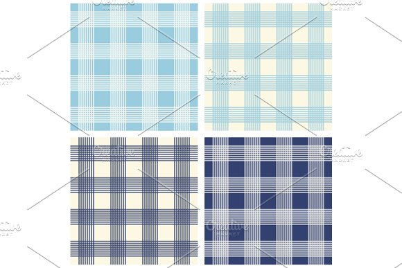 Set of four primitive seamless retro patterns in Textures
