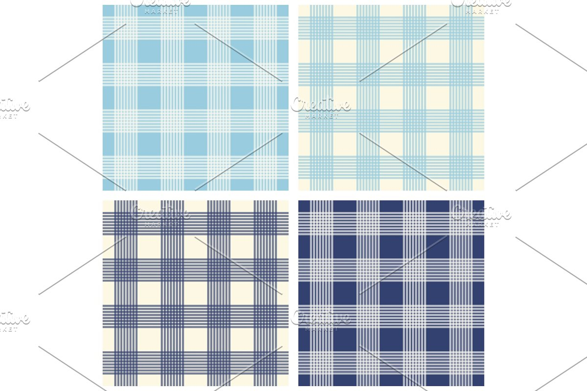 Set of four primitive seamless retro patterns in Textures - product preview 8