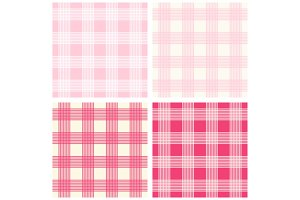 Set of four primitive seamless retro patterns