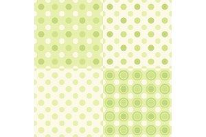 Set of four primitive seamless retro patterns