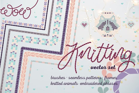 Knitted Elements Brushes Patterns