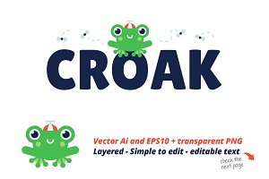 Croak - Editable Frog Logo Template