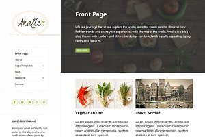Amalie - Blog WordPress Theme